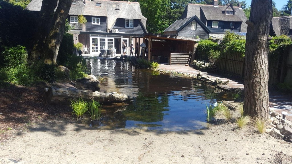 Natuurvijver en huisje in Soesterberg 5